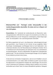 Diese Meldung als PDF - JVB Landesverband der Bayerischen ...