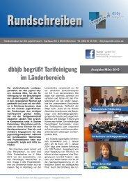 JVB-Jugend: Rundschreiben März 2013