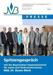 Juli 2013, Nr. 4 - JVB Landesverband der Bayerischen ...