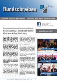 JVB-Jugend: Rundschreiben Januar 2013