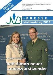 JVB-Presse, Juni 2013, Nr. 3 - JVB Landesverband der Bayerischen ...
