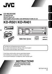 KD-R501/KD-R401 - JVC