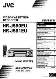 DEUTSCH VIDEO-CASSETTEN- RECORDER - JVC