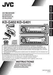 KD-G402/KD-G401 - Jvc