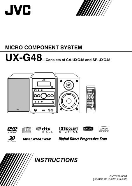 Original JVC Service Manual for UX Model Micro Component Systems~ Select One
