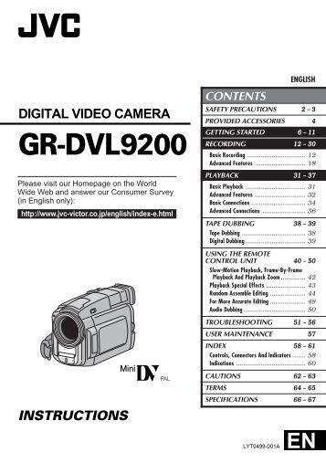 JVC Compact VHS Camcorder GR-SXM750