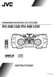 POWERED WOOFER CD SYSTEM RV-NB10B/RV-NB10W - JVC