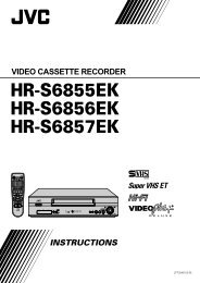 hr-s6855ek hr-s6856ek hr-s6857ek video cassette recorder ... - JVC