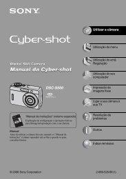 Manual da Cyber-shot Manual da Cyber-shot