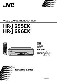 hr-j695ek hr-j696ek video cassette recorder instructions - JVC