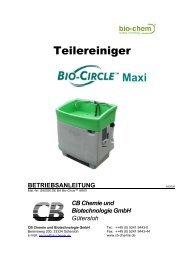 Betriebsanleitung - Bio-Circle
