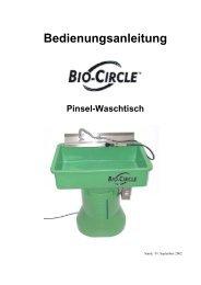 Bedienungsanleitung Bio-Circle-Pinselwaschtisch
