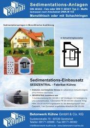 Sedimentationsanlagen lt. DWA 153 - Betonwerk Kühne GmbH ...