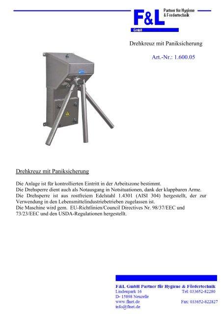 Datenblatt - F & L GmbH
