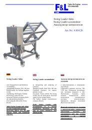 Swing Loader Akku Swing Loader accumulator ... - F & L GmbH