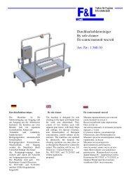 Durchlaufsohlenreiniger By sole cleaner По ... - F & L GmbH