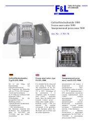 Gefrierfleischschneider 5000 Frozen meat cutter 5000 ... - F & L GmbH