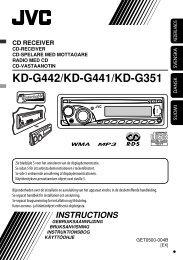 Kontrolpanel — KD-G442/KD-G441/KD-G351 - JVC Danmark