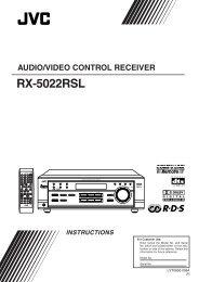 Audio/video control receiver rx-5022rsl