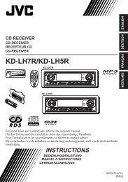 KD-LH7R/KD-LH5R - Jvc