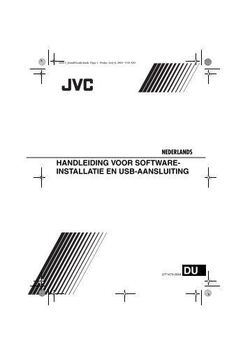 handleiding voor software- installatie en usb-aansluiting - Jvc