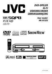 DVD-SPELER Hi-Fi VIDEORECORDER GEBRUIKSAANWIJZING - Jvc