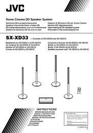 sx-xd33 instructions - Jvc