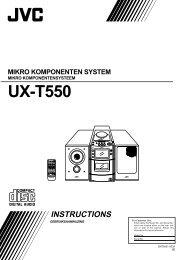 UX-T550 - Jvc