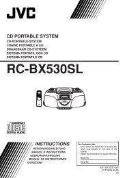 RC-BX530SL - Jvc