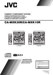 ca-mxk30r/ca-mxk10r compact component system - Jvc