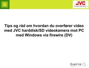 Harddisk/SD videokamera overføring og redigering mot Windows ...