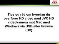 HD videokamera overføring og redigering mot MAC