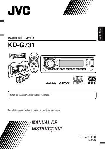 Jvc Kd G731 инструкция