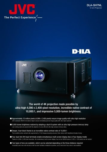 The world of 4K projection made possible by ultra-high 4096 x ... - JVC