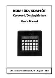 user manual kdm10 - JVL Industri Elektronik A/S