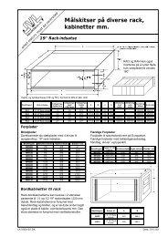Målskitser på diverse rack, kabinetter mm. - JVL Industri Elektronik A/S