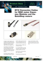 M12 Connection Cables for MAC motor Expan- sion ... - Exportpages