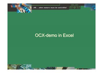How to make OCX-program in Excel