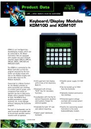 DATASHEEt KDM10 - JVL Industri Elektronik A/S