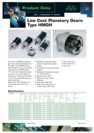 Low Cost Planetary Gears Type HMGH - Exportpages