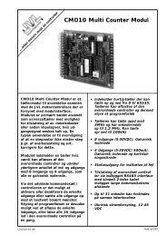 CMO10 Multi Counter Modul - JVL Industri