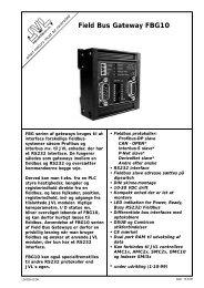 Field Bus Gateway FBG10 - JVL Industri Elektronik A/S