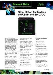 datasheet smc30 - JVL Industri Elektronik A/S