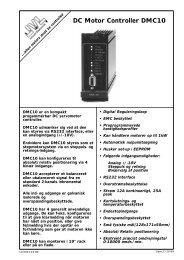 DC Motor Controller DMC10 - JVL Industri Elektronik A/S