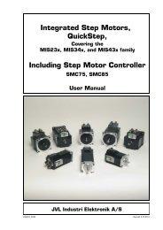 Integrated Step Motors, QuickStep, Including Step Motor Controller