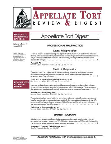 TORTS AND DAMAGES