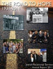2011 Annual Report - Jewish Vocational Service