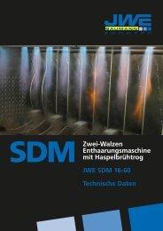 Technische Daten SDM 16-60 - JWE-Baumann GmbH