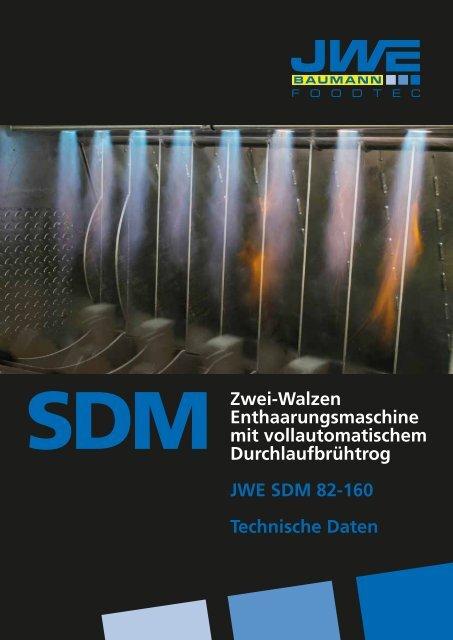 Technische Daten SDM 82-160 - JWE-Baumann GmbH
