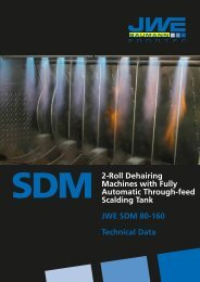 Technical Data SDM 80-160 - JWE-Baumann GmbH